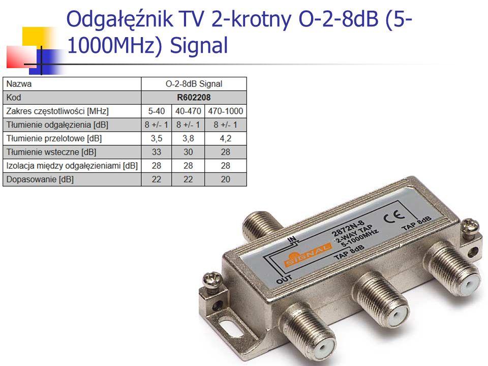 Odgałęźnik TV 2-krotny O-2-8dB (5- 1000MHz) Signal