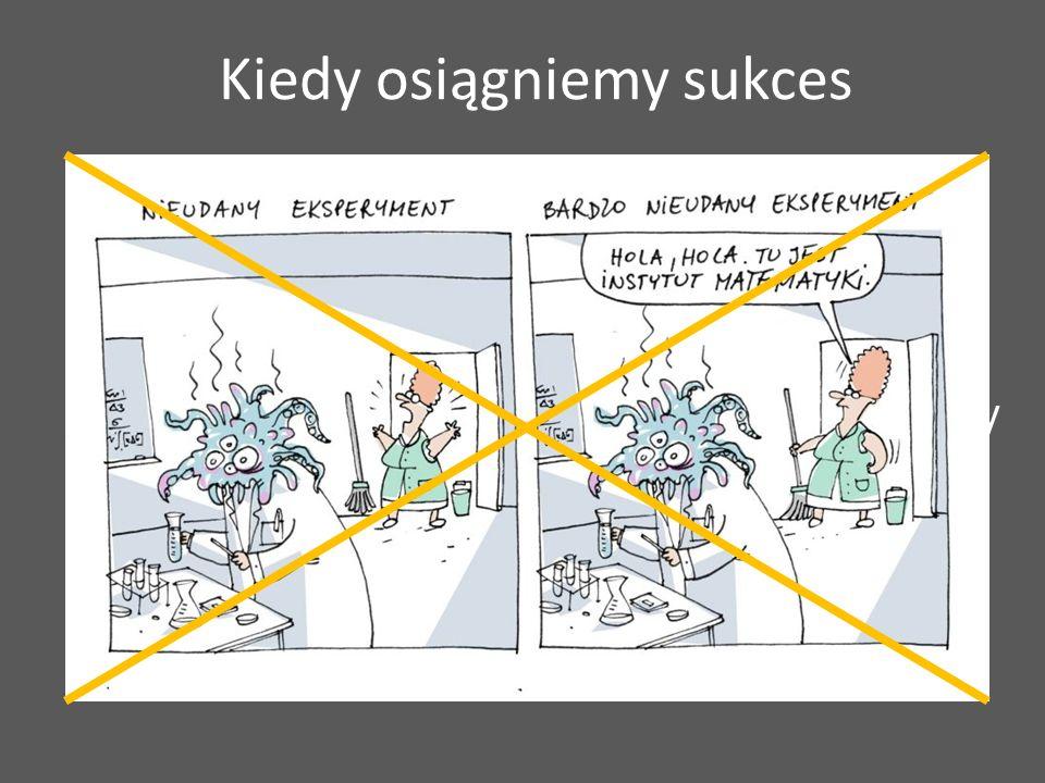Posiadamy odpowiednie możliwości techniczne Nie wprowadzamy błędu systematycznego (systematic bias) i minimalizujemy błąd losowy Potrafimy określić, czy eksperyment przebiega oraz jest wykonywany prawidłowo!!.