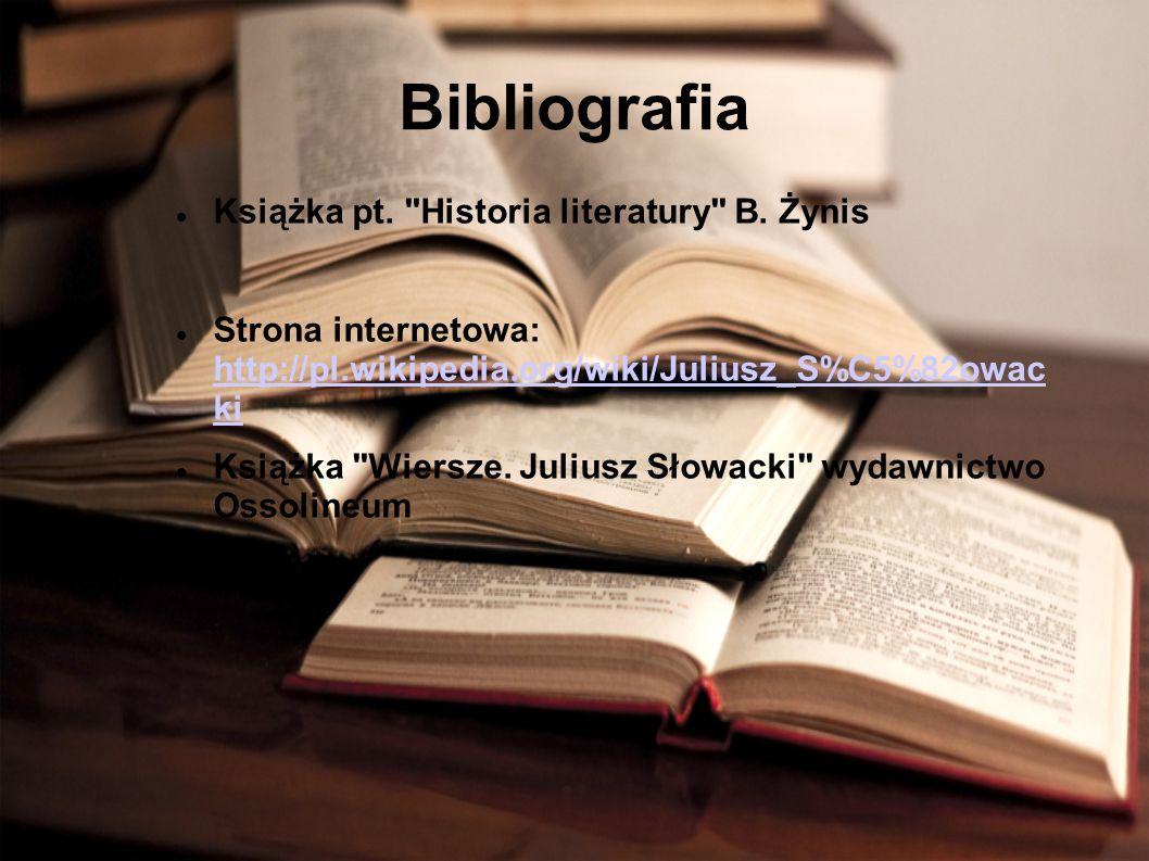 Bibliografia Książka pt. Historia literatury B.