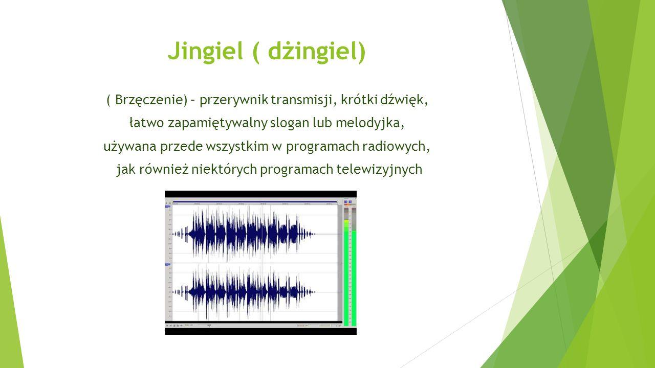Jingiel ( dżingiel) ( Brzęczenie) – przerywnik transmisji, krótki dźwięk, łatwo zapamiętywalny slogan lub melodyjka, używana przede wszystkim w programach radiowych, jak również niektórych programach telewizyjnych