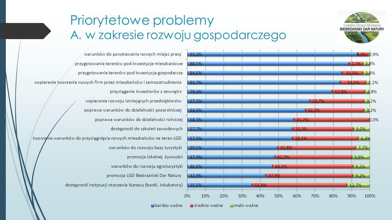 Priorytetowe problemy A. w zakresie rozwoju gospodarczego