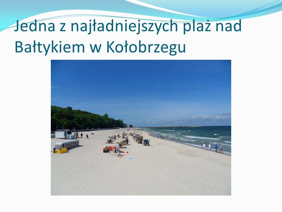 Jedna z najładniejszych plaż nad Bałtykiem w Kołobrzegu