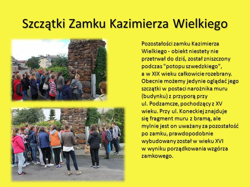 Szczątki Zamku Kazimierza Wielkiego Pozostałości zamku Kazimierza Wielkiego - obiekt niestety nie przetrwał do dziś, został zniszczony podczas