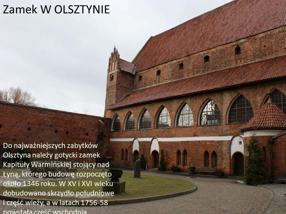 Zamek w olsztynku Średniowieczny zamek w Olsztynku wzniesiono w latach 1350-66 na życzenie komtura ostródzkiego – Gunthera von Hohenstein.