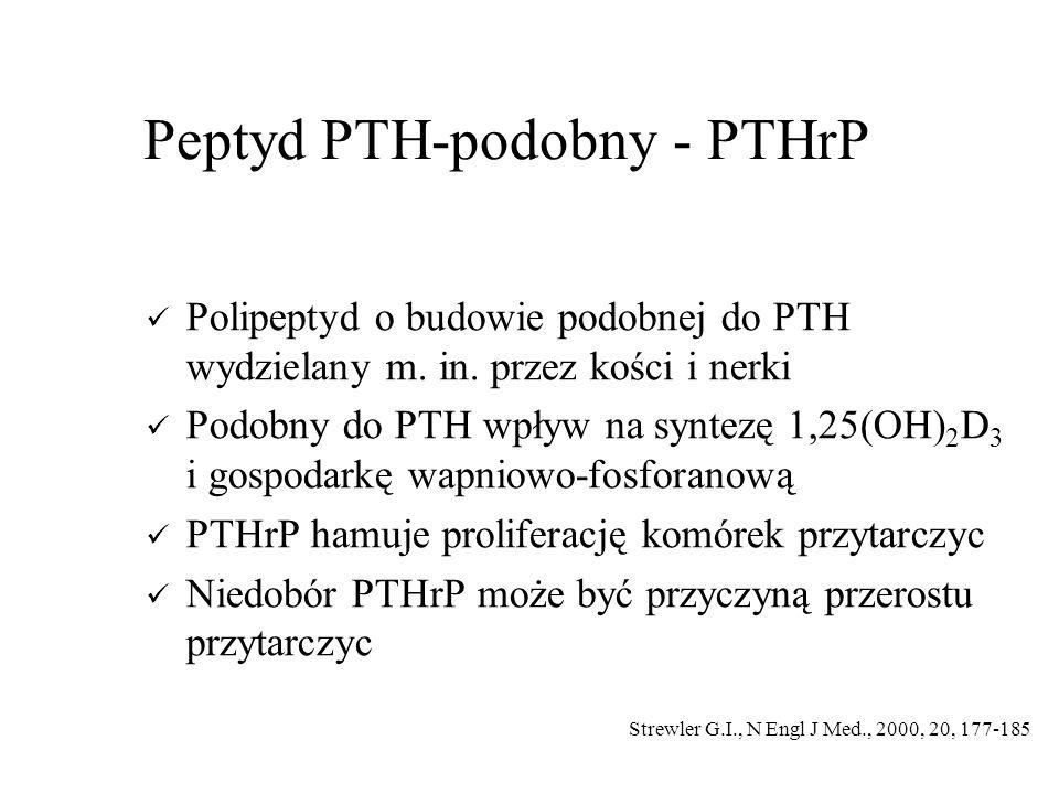 Peptyd PTH-podobny - PTHrP Polipeptyd o budowie podobnej do PTH wydzielany m.
