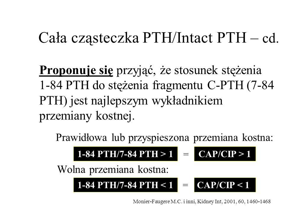 Cała cząsteczka PTH/Intact PTH – cd.