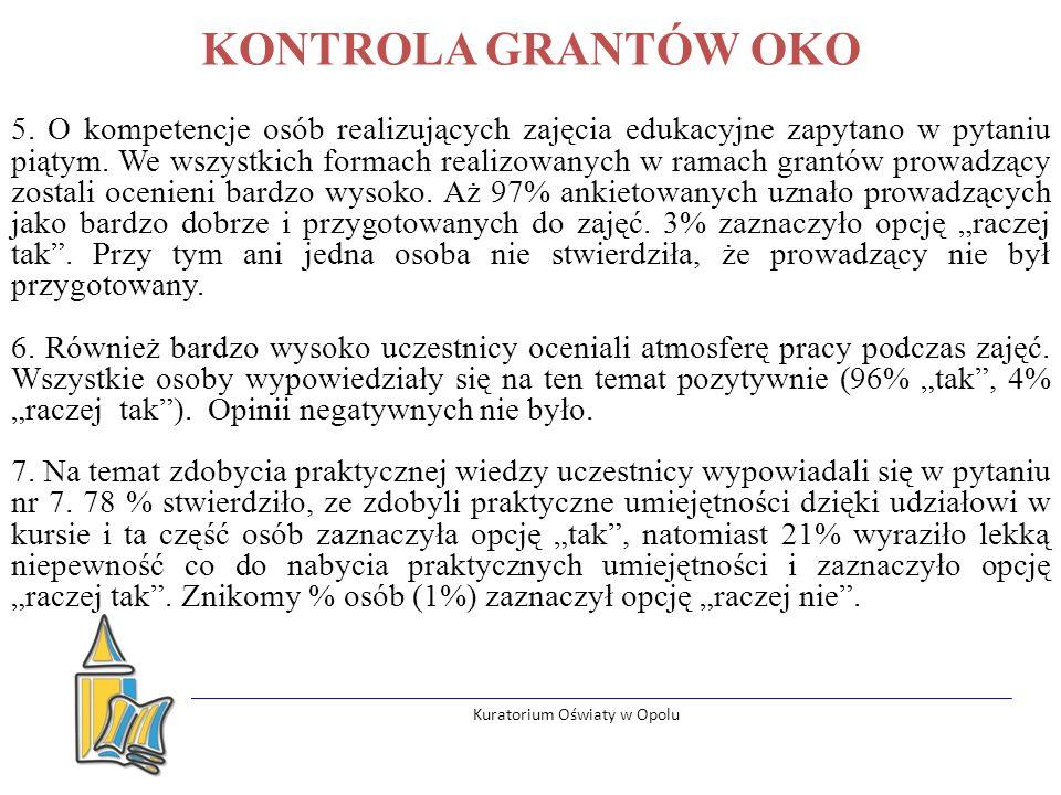 Kuratorium Oświaty w Opolu KONTROLA GRANTÓW OKO 5.