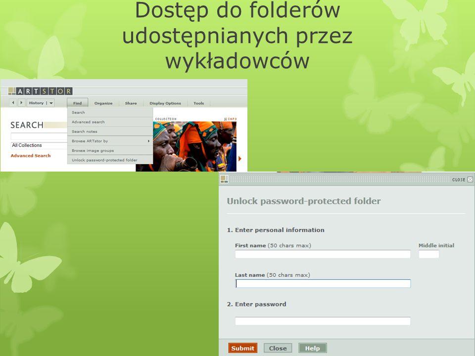 Dostęp do folderów udostępnianych przez wykładowców