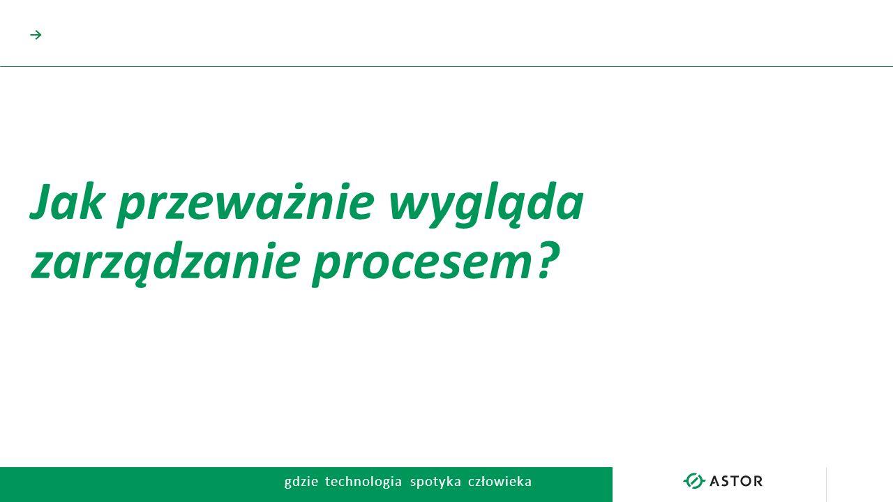 gdzie technologia spotyka człowieka → Jak przeważnie wygląda zarządzanie procesem?