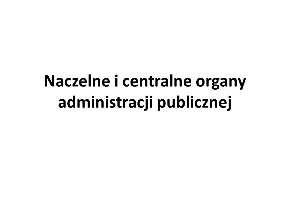 Naczelne i centralne organy administracji publicznej RADA MINISTRÓW Członkowie RM: -Podwójna rola: 1.Sami są organami; 2.Są członkami organu kolegialnego