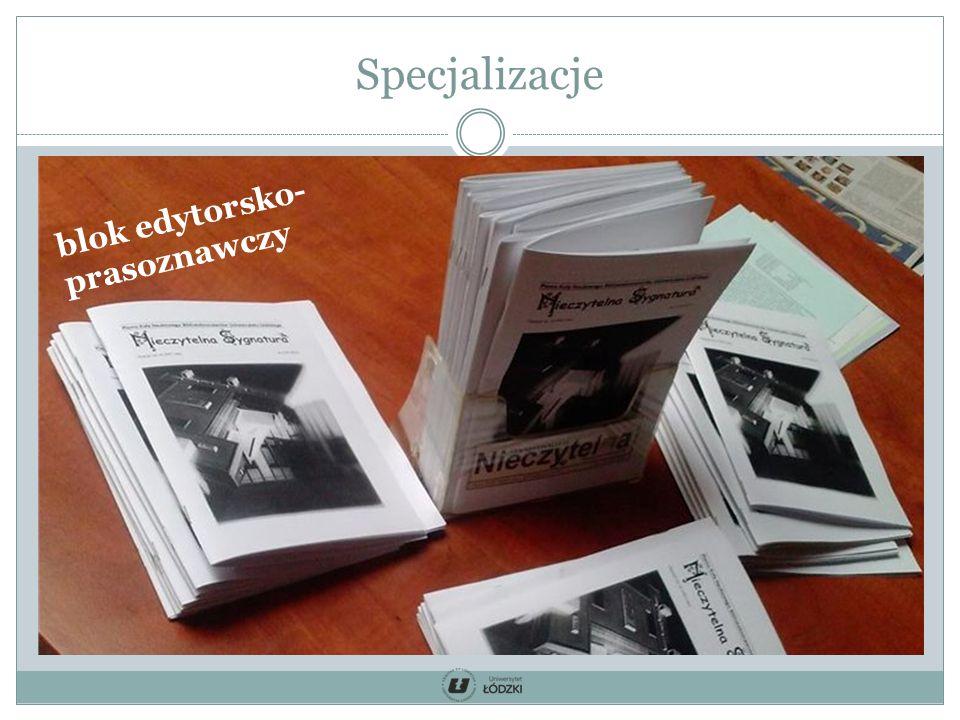Specjalizacje blok edytorsko- prasoznawczy
