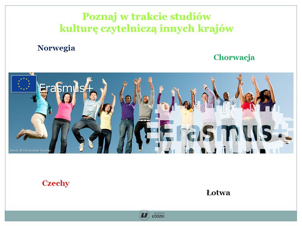 Norwegia Czechy Chorwacja Łotwa Poznaj w trakcie studiów kulturę czytelniczą innych krajów