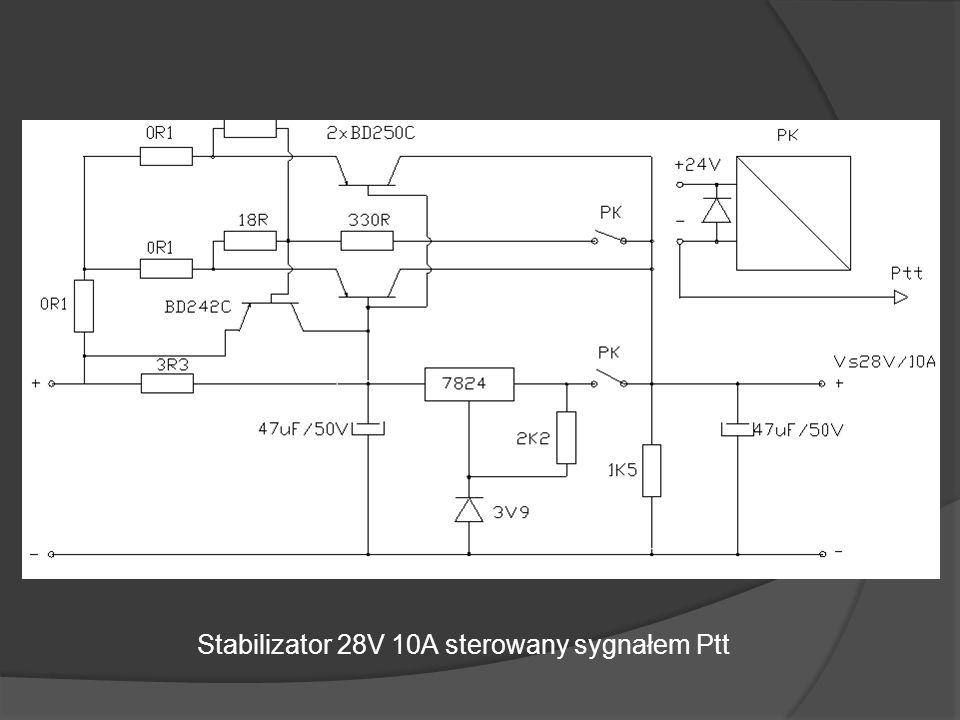 Stabilizator 28V 10A sterowany sygnałem Ptt