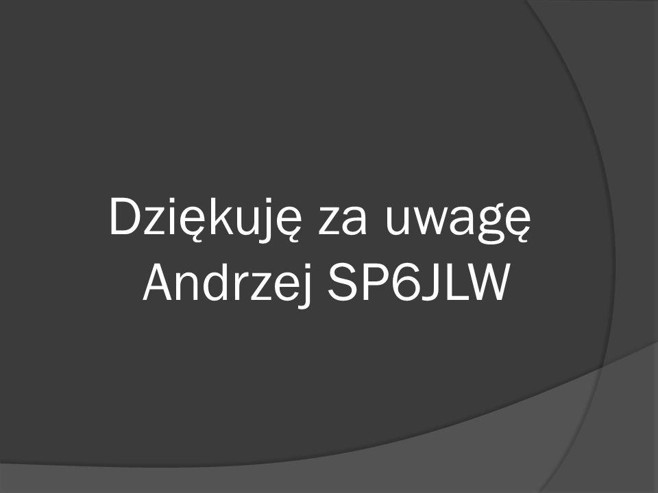 Dziękuję za uwagę Andrzej SP6JLW