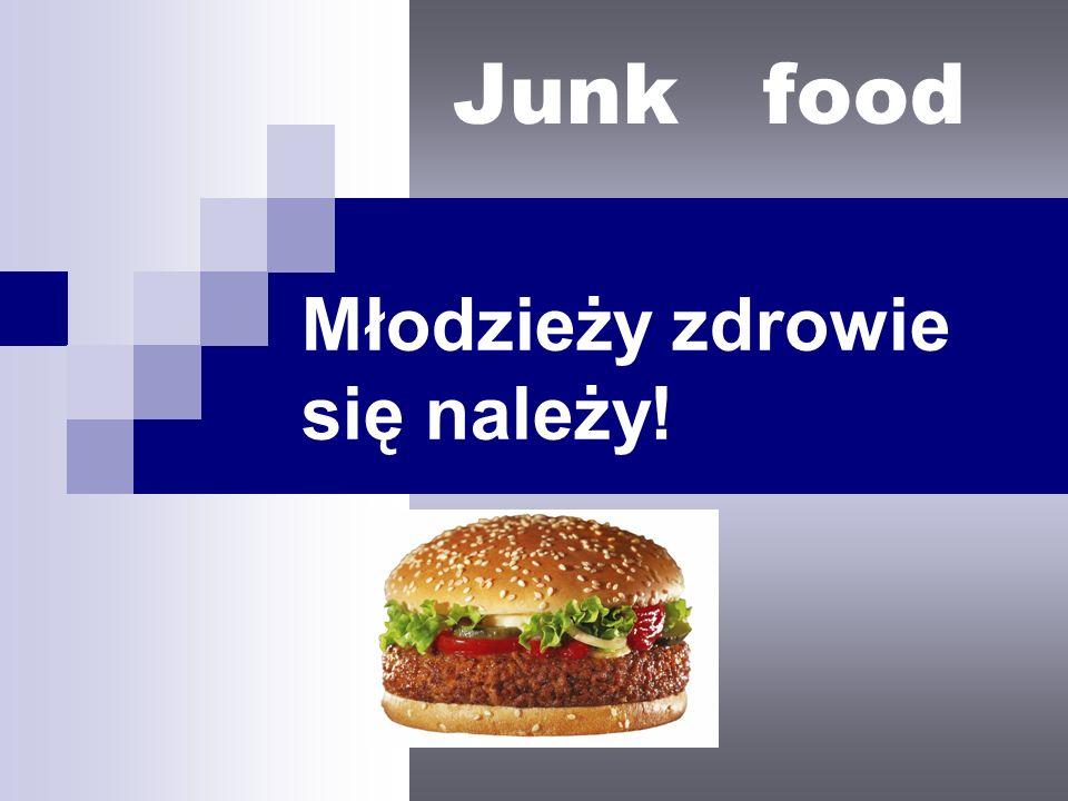 Młodzieży zdrowie się należy! Junk food