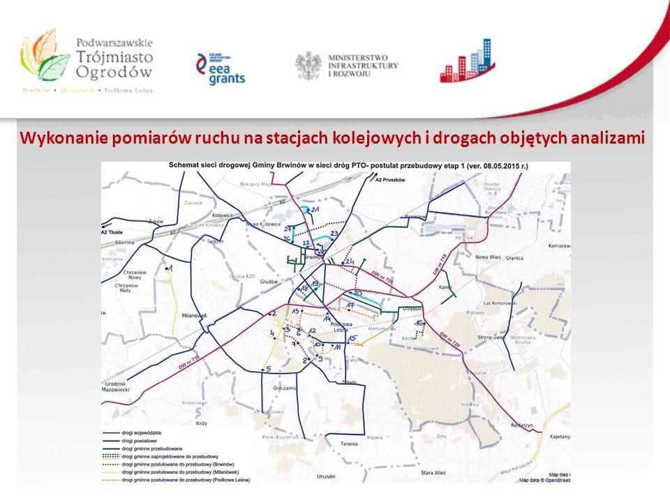 Wykonanie pomiarów ruchu na stacjach kolejowych i drogach objętych analizami