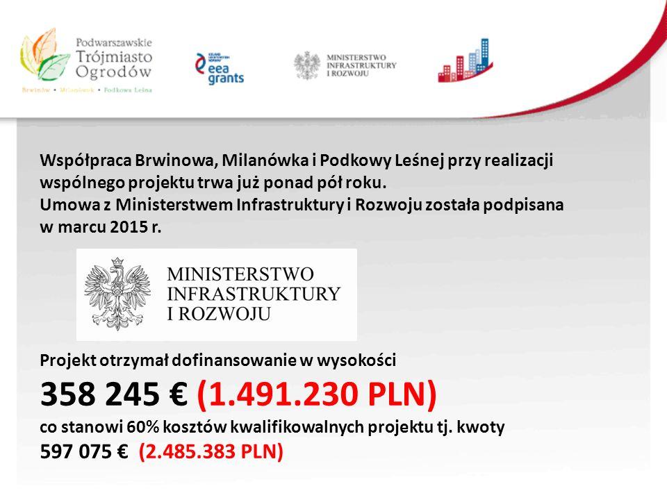 Współpraca Brwinowa, Milanówka i Podkowy Leśnej przy realizacji wspólnego projektu trwa już ponad pół roku.