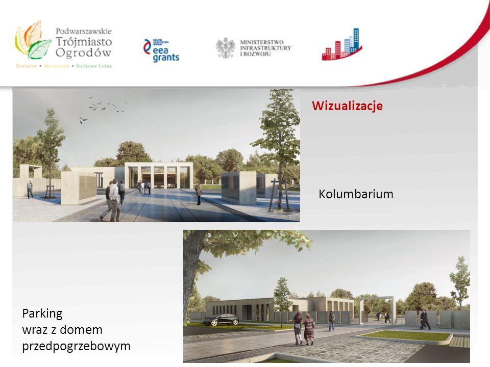 Wizualizacje Kolumbarium Parking wraz z domem przedpogrzebowym