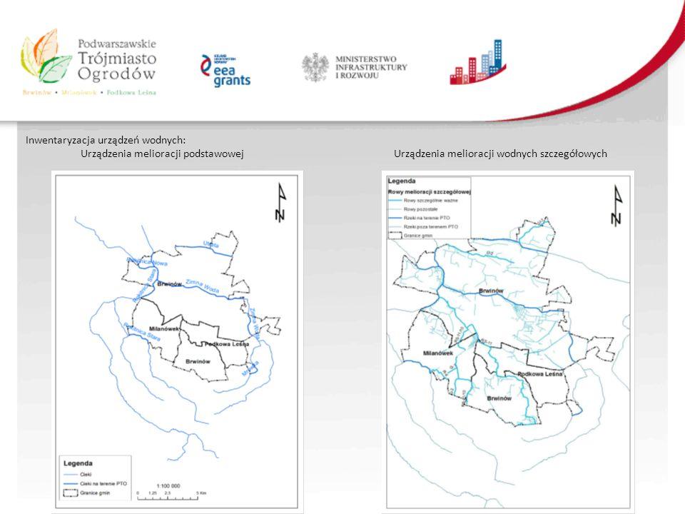 Inwentaryzacja urządzeń wodnych: Urządzenia melioracji podstawowej Urządzenia melioracji wodnych szczegółowych