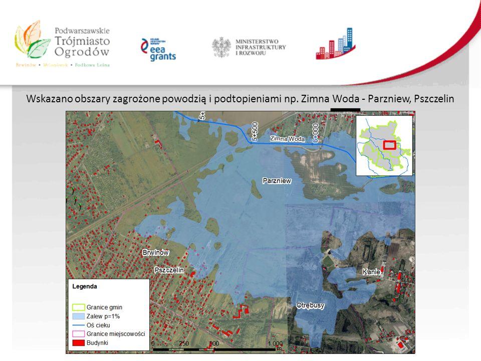 Wskazano obszary zagrożone powodzią i podtopieniami np. Zimna Woda - Parzniew, Pszczelin
