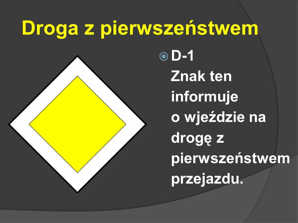 Droga ekspresowa  D-7 Znak ten oznacza wjazd na drogę ekspresową.