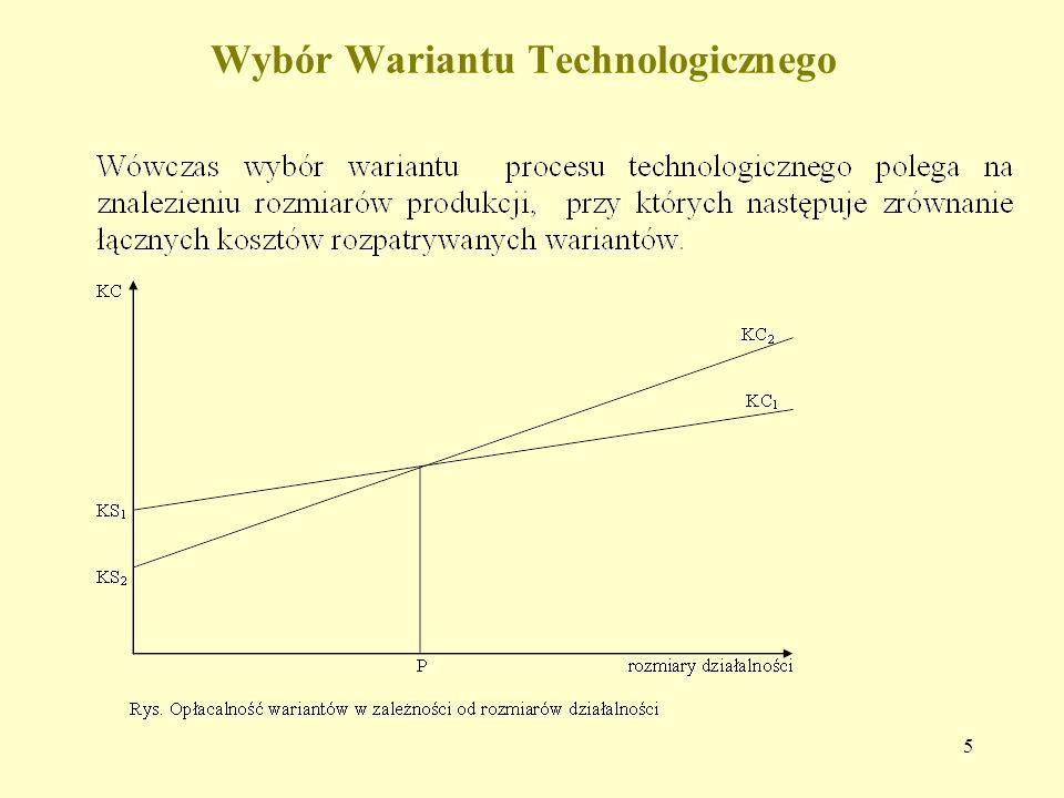 5 Wybór Wariantu Technologicznego