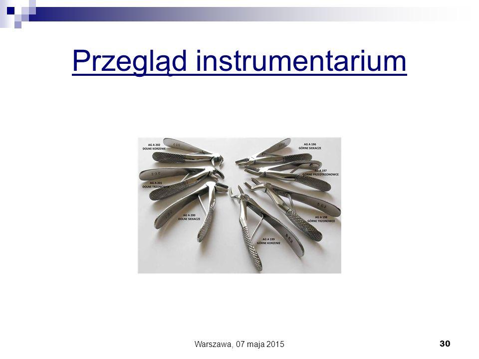 Przegląd instrumentarium Warszawa, 07 maja 2015 30