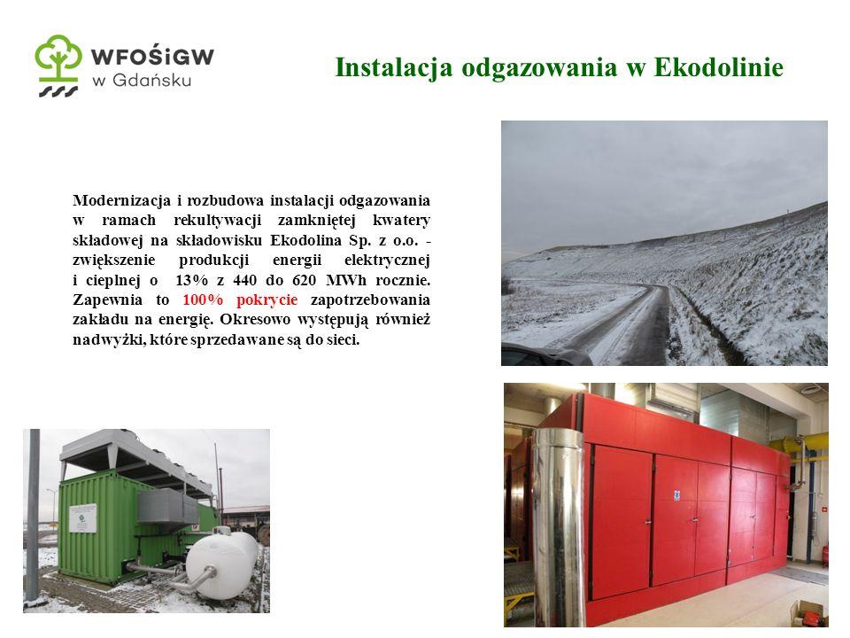 8 Modernizacja i rozbudowa instalacji odgazowania w ramach rekultywacji zamkniętej kwatery składowej na składowisku Ekodolina Sp. z o.o. - zwiększenie