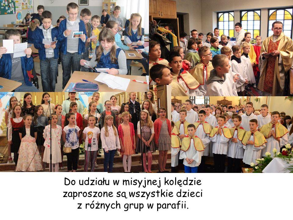 Do udziału w misyjnej kolędzie zaproszone są wszystkie dzieci z różnych grup w parafii.