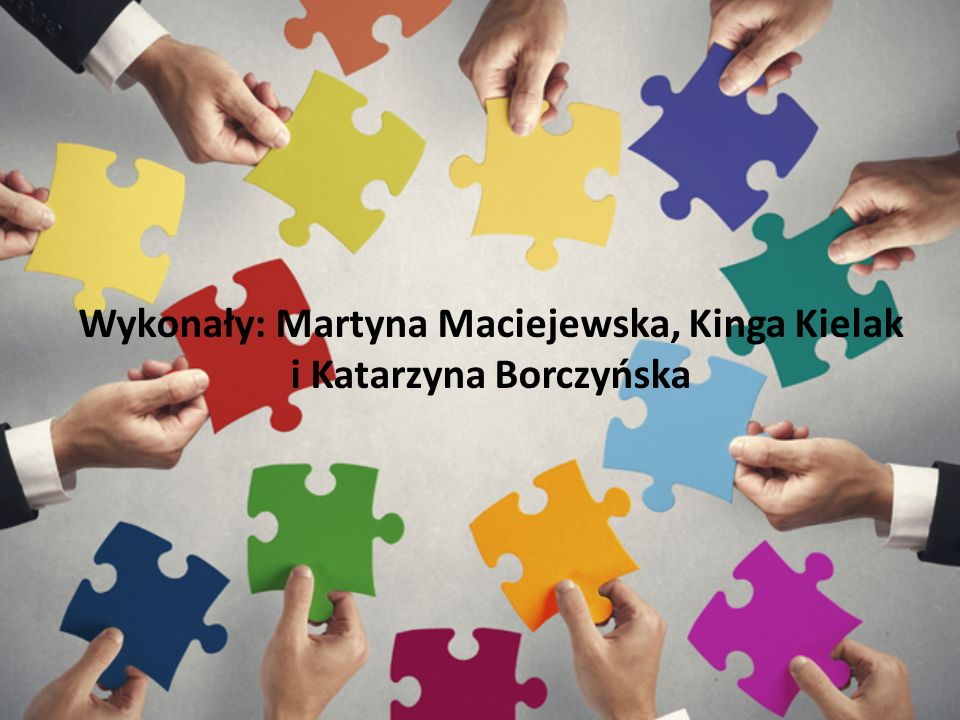 Wykonały: Martyna Maciejewska, Kinga Kielak i Katarzyna Borczyńska
