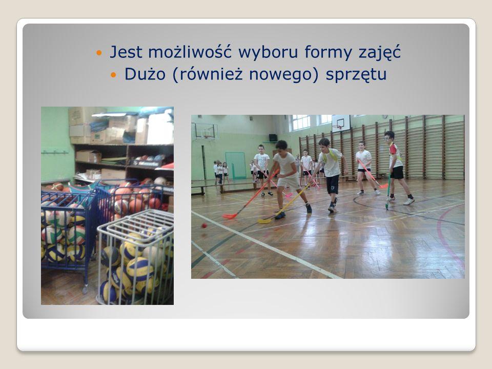Zalety naszego szkolnego WF Duża różnorodność i intensywność na zajęciach Dużo gier zespołowych i pracy w grupach