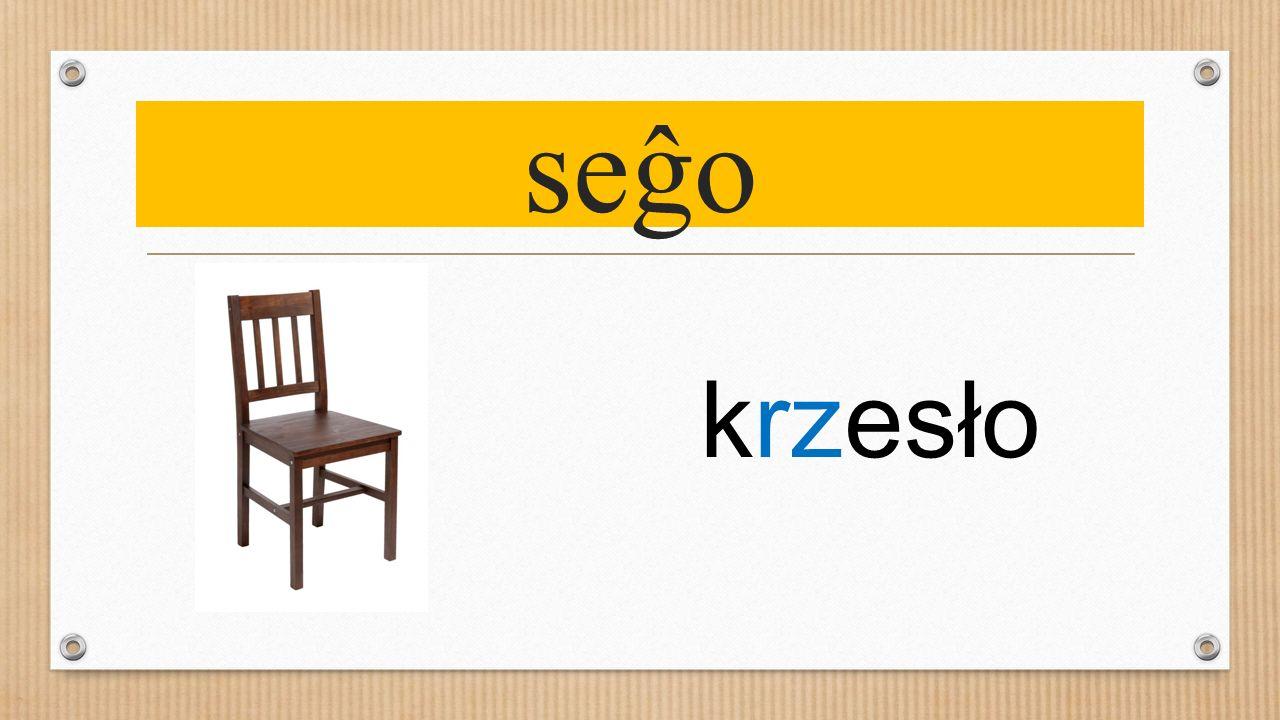 seĝo krzesło