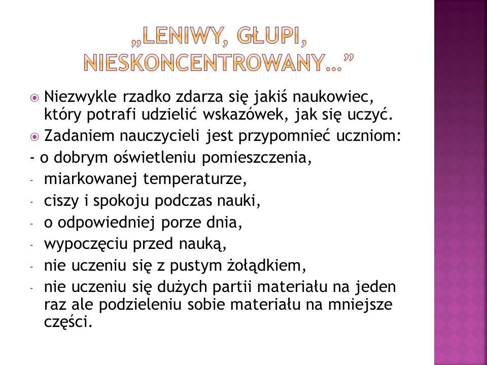 """ Książka Sebastiana Leitnera """"Naucz się uczyć napisana w latach 70."""