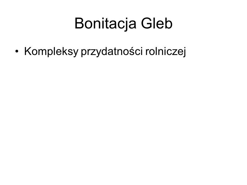Kompleksy przydatności rolniczej gleb Kompleksy przydatności rolniczej gleb, opracowany dla obszaru Polski zespół jednostek taksonomicznych gleb.