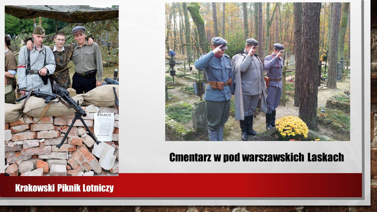 Krakowski Piknik Lotniczy Cmentarz w pod warszawskich Laskach