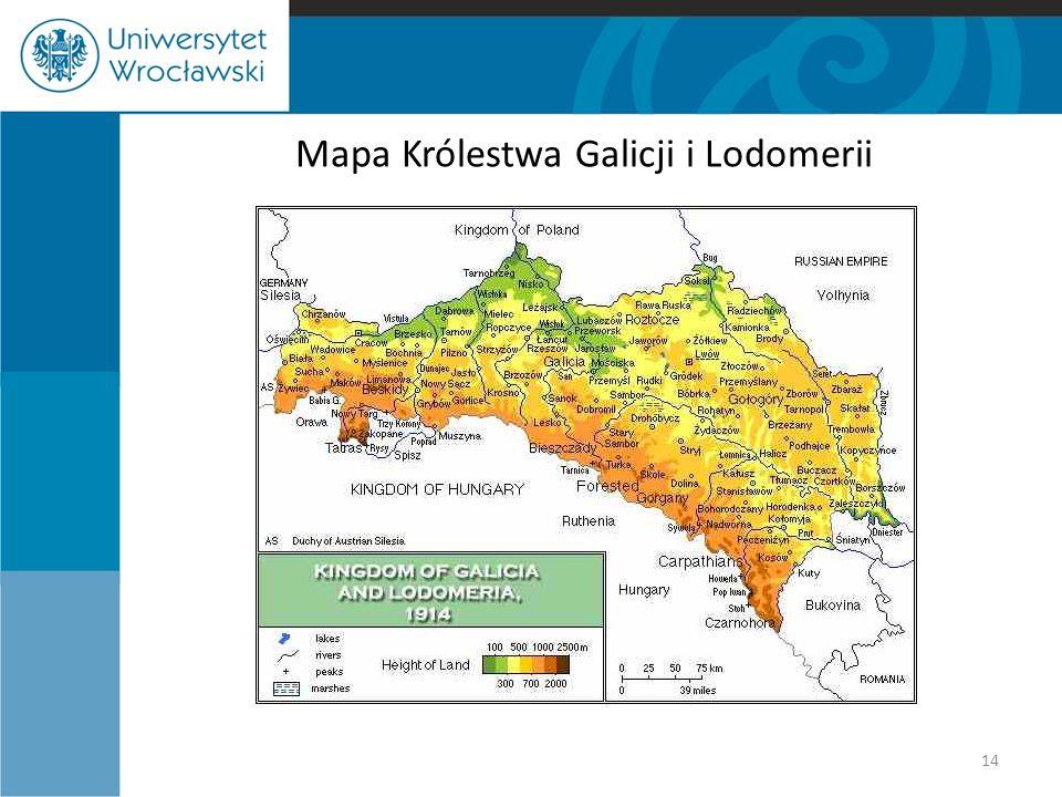 14 Mapa Królestwa Galicji i Lodomerii