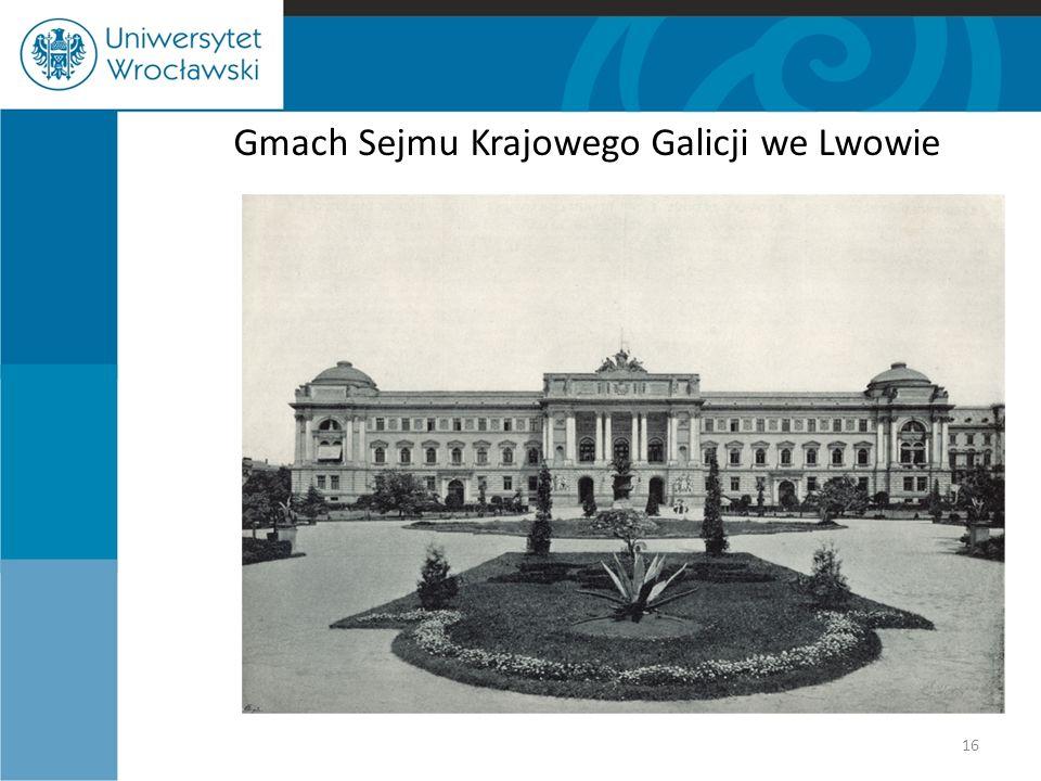 Gmach Sejmu Krajowego Galicji we Lwowie 16