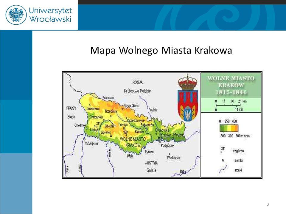 Mapa Wolnego Miasta Krakowa 3