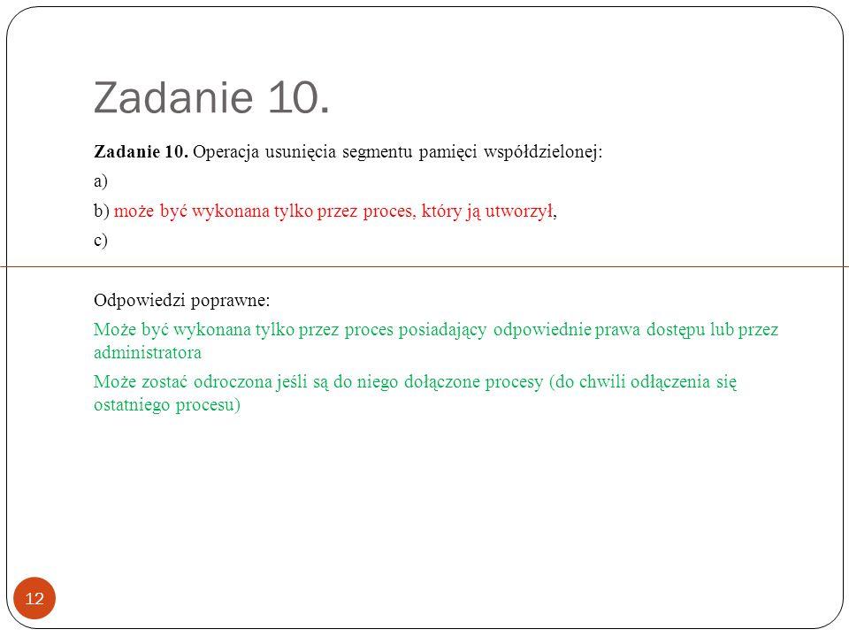 Zadanie 10. 12 Zadanie 10.