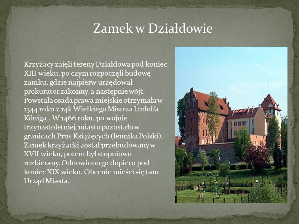 Zamek w Działdowie Krzyżacy zajęli tereny Działdowa pod koniec XIII wieku, po czym rozpoczęli budowę zamku, gdzie najpierw urzędował prokurator zakonn