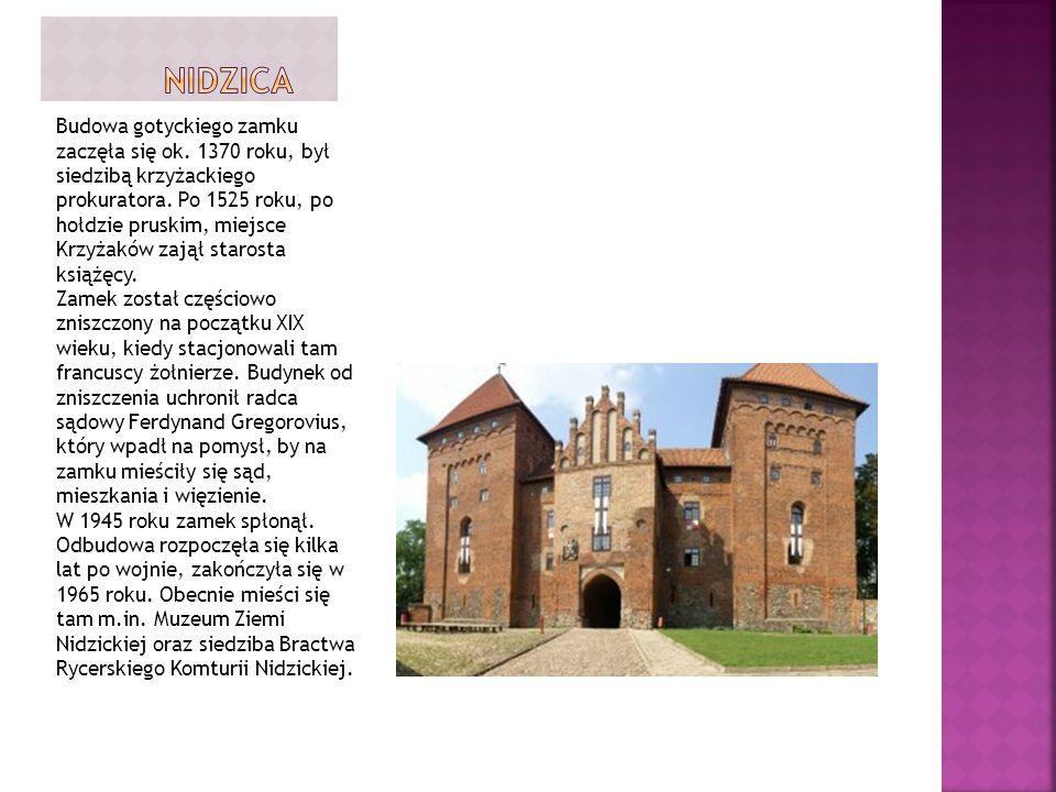 Budowa gotyckiego zamku zaczęła się ok.1370 roku, był siedzibą krzyżackiego prokuratora.