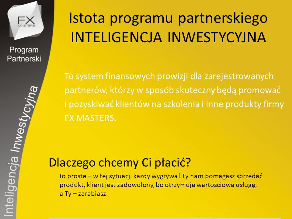 Zostań Partnerem www.pp.inteligencja-inwestycyjna.pl i dołącz do grona aktywnych partnerów generując jedne z największych prowizji w Polsce.