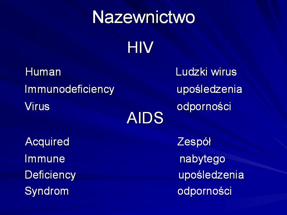 Dane epidemiologiczne-świat 2014 (UNAIDS) od początku epidemii ok 73 mln ludzi zakażonych HIV, około 36 mln umarło z powodu AIDS Liczba osób zakażonychLiczba ogólna37 mln Nowe zakażenia 2014Liczba ogólna2,0 mln Zgony w wyniku AIDS 2014 Liczba ogólna1,2mln