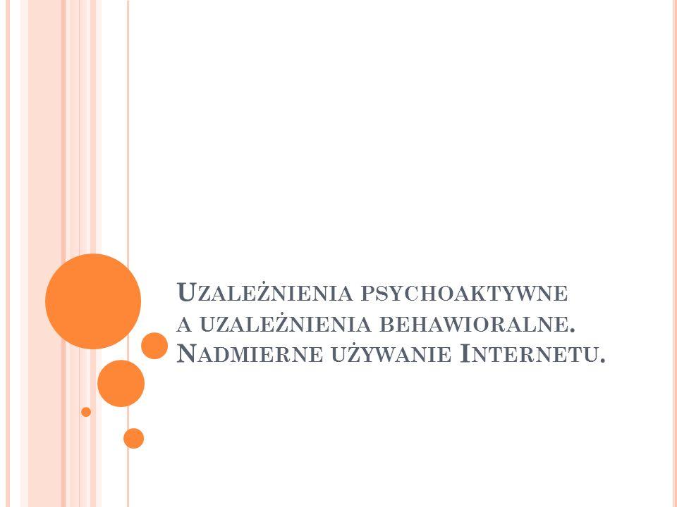 B IBLIOGRAFIA UZALEŻNIENIE OD INTERNETU Wydawnictwa ciągłe Kołodziejczyk M., Powrót z wirtualu : na odwyku internetowym, Polityka, 2005, nr 1, s.
