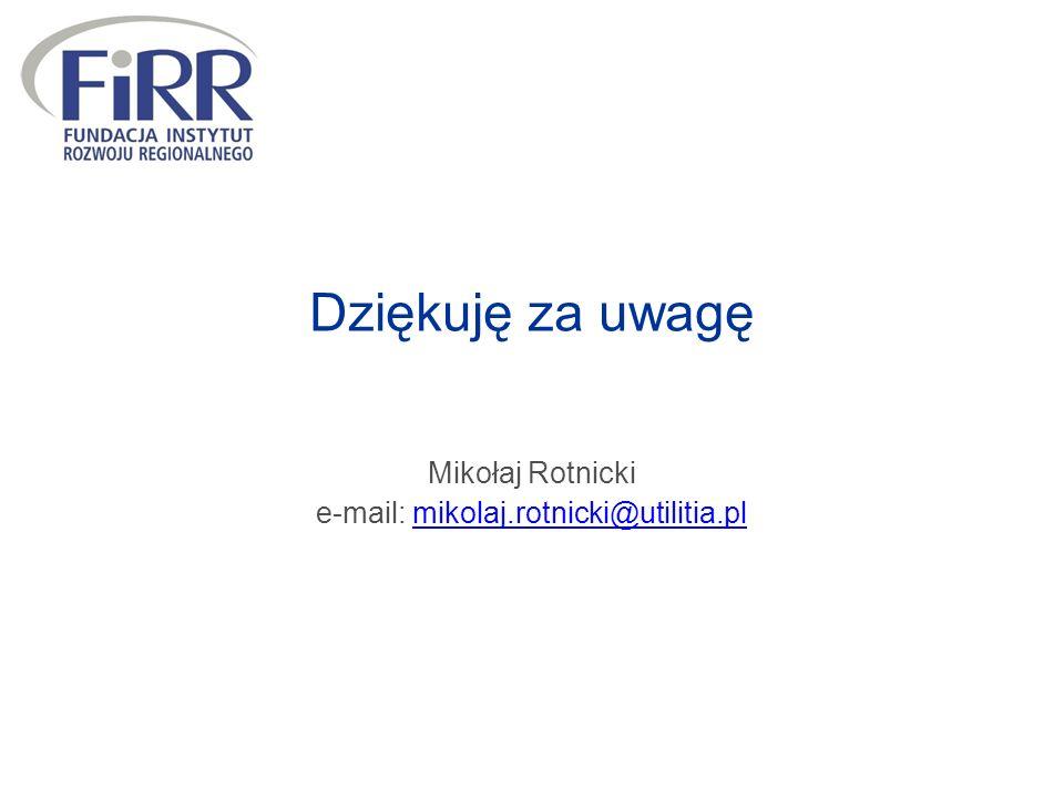 Dziękuję za uwagę Mikołaj Rotnicki e-mail: mikolaj.rotnicki@utilitia.plmikolaj.rotnicki@utilitia.pl