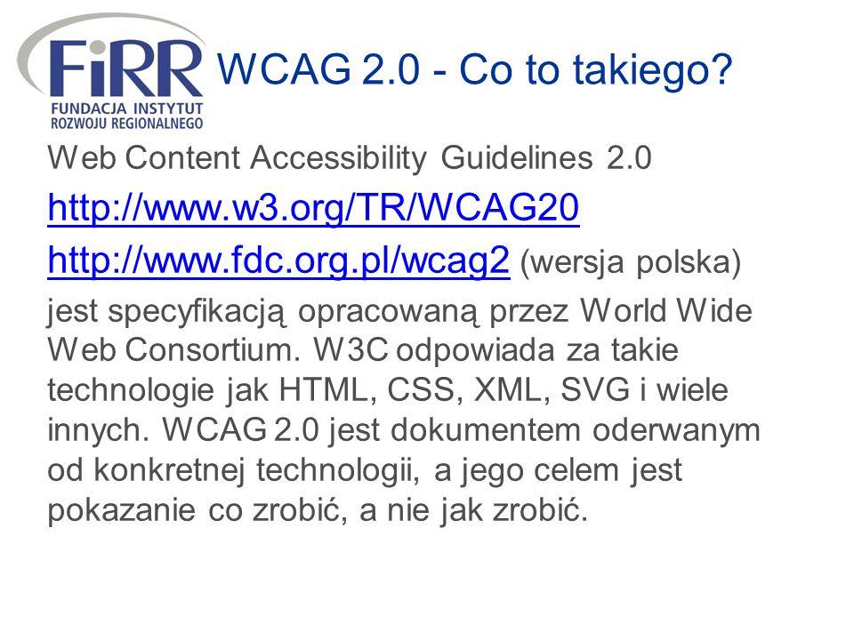 WCAG 2.0 - Co to takiego.