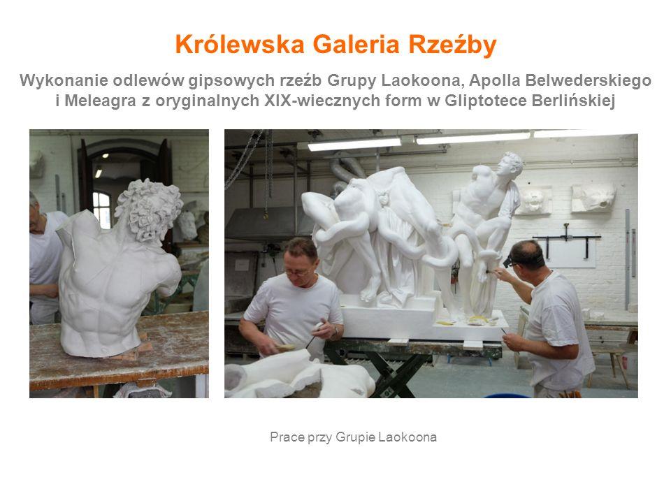 Wykonanie odlewów gipsowych rzeźb Grupy Laokoona, Apolla Belwederskiego i Meleagra z oryginalnych XIX-wiecznych form w Gliptotece Berlińskiej Królewsk