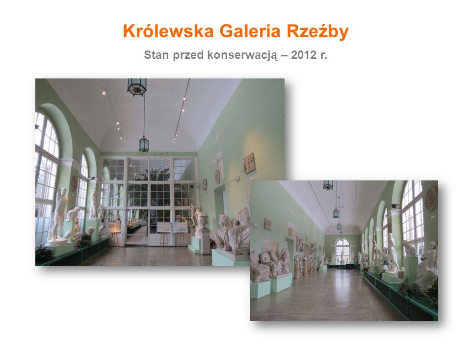 Stan przed konserwacją – 2012 r. Królewska Galeria Rzeźby