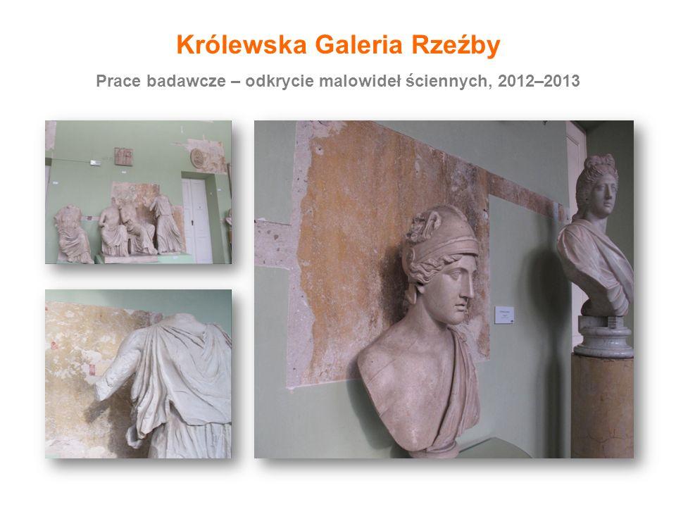 Prace badawcze – odkrycie malowideł ściennych, 2012–2013 Królewska Galeria Rzeźby