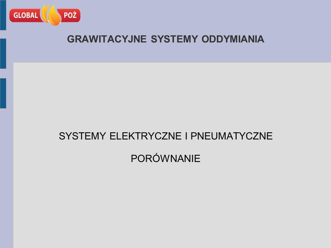 GRAWITACYJNE SYSTEMY ODDYMIANIA SYSTEMY ELEKTRYCZNE I PNEUMATYCZNE PORÓWNANIE